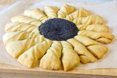 Flower-shaped Italian Bread-a pretty pull-appart and I would serve some dipping sauces too!