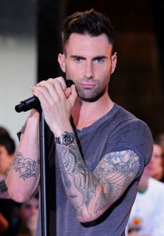 Adam Levine, even though I am not a fan of the tats.....I'm a HUGE fan of this!!
