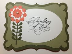 Sympathy Card made on a Silhouette Cameo, used Stampin Up card stock and the sentiment is a retired Stampin Up stamp.