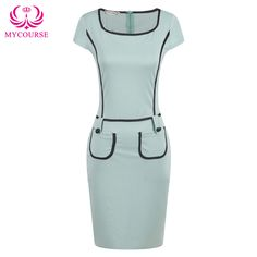Find More Dresses Information about MYCOURSE Elegant Work Color Contrast Patchwork Bodycon Pencil Dress For Women,High Quality dress up bride groom,China pencil Suppliers, Cheap pencil dress shop from MYCOURSE on Aliexpress.com