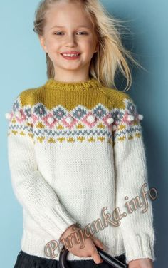 Пуловер (д) 15*124 Phildar №4847