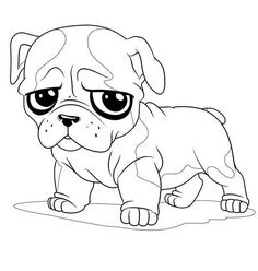 Printable Pug Coloring Page coloring
