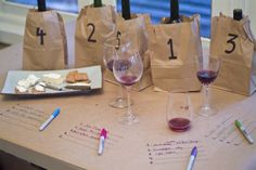 Neat idea for wine tasting party