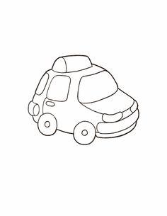 Раскраски для малышей машины 30