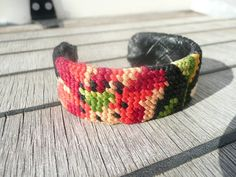 hand embroidered vintage upcycled cuff by mariearnoux on etsy