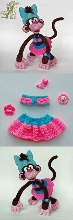 Crochet Monkey pattern. Monkey amigurumi. Monkey DIY. Funny crochet. Amigurumi animal