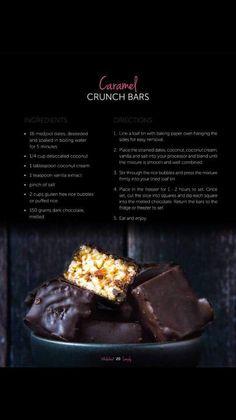 Caramel Crunch, Coconut Cream, Candy, Snacks, Baking, Food, Thermomix, Appetizers, Bakken