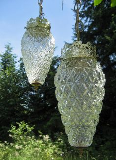 Double Hanging Swag Glass Light Fixtures By HeartSmileFarms