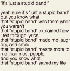 Stupid band my ass