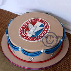 Eagle Scout cake - A Big Accomplishment... by The Well Dressed Cake, via Flickr