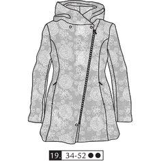"2012-05#19 ""Luxurious Flowers"" winter coat"