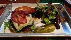 bacon beef burger at Hi Tops Bar in San Francisco