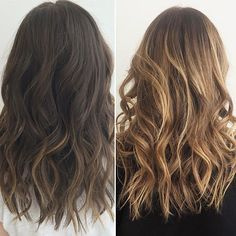 Image result for balayage brown hair before and after