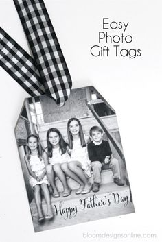 Simple Photo Gift Tags! They take just a few minutes so pick a photo and sentiment for any occasion and truly customize your gift.