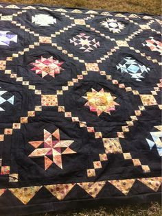 Love quilts with black