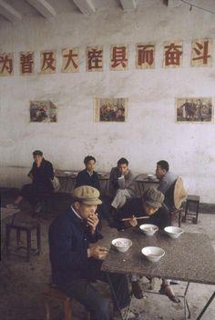 Bruno Barbey, China, Yangshuo. In a restaurant. 1980.