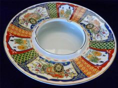 Imari Type Panel Japanese Ashtray Centerpiece Red Blue Green Yellow Gold Marked Check more at https://thewildpetunia.com/store/asian-collectibles/imari-type-panel-japanese-ashtray-centerpiece-red-blue-green-yellow-gold-marked/