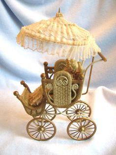 dollhouse doll house miniature BABY STROLLER CARRIAGE BUGGY LOUIS NICHOLE | eBay