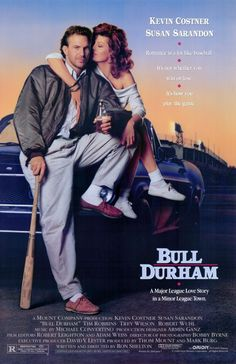 Bull Durham — sexy, oddball baseball film with Tim Robbins, Kevin Costner, and some sincerely expert handling by Susan Sarandon. Susan Sarandon, Susan Sontag, Kevin Costner, 80s Movies, Great Movies, Movies To Watch, Awesome Movies, Famous Movies, The Criterion Collection