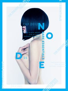 Node | Magazine Cover by Abby Chen, via Behance Great Hair lines