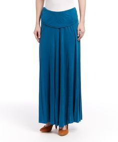 Loving this Teal Blue Maxi Skirt on #zulily! #zulilyfinds
