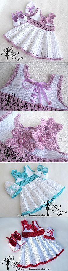 """Los niños se disfrazan para gancho de las niñas.   Razpetelka.ru [ """"Kids dress up for girls crochet."""" ] # # #Dress #Up #For #Girls, # #Kid #Dresses, # #Layette, # #Tissue, # #Boleros, # #Amigurumi #Patterns"""