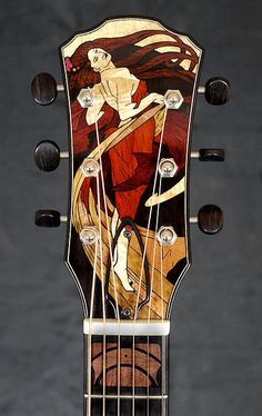 Guitars acoustic custom headstock   Custom Headstock from Brook