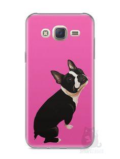 Capa Capinha Samsung J7 Cachorro Boston Terrier - SmartCases - Acessórios para celulares e tablets :)