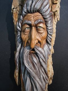 Suzy wood carving wood spirit 9
