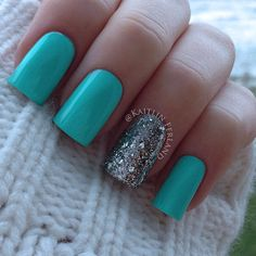 .@Kaitlin Ferland | My favorite combo! Color Club - Blue Ming and Love & Beauty - Silver | Webstagram - the best Instagram viewer