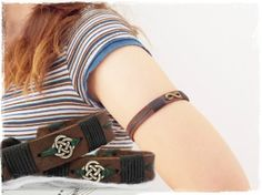 a601a191710 Upper Arm Bracelet, Celtic Leather Armaband, Elven LARP Armlet, Leather Arm  Cuff, Nordic Leather Arm Band, Elf Armband, Celtic Knot Armband