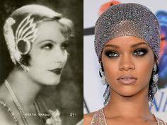 Greta Garbo and Rihanna, two epochs, two idoles...