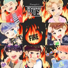 Burning #BTS #방탄소년단 Art ❤ Gimme the infires MV bruh