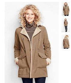 Cozy coat from Lands End