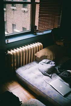 Image via We Heart It https://weheartit.com/entry/141994412/via/14368134 #apple #dark #grunge #hipster #life #macbook #mattress #notebook #photo #photography #poor #room #sad #silent #sleep #vintage #grungie