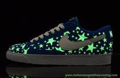 best website 88077 14c03 sapatilhas de marca Masculino-Mulheres Suede  Azul Branco  Noctilucent  Nike Blazer Low 846968-009