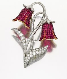 Mystery-Set Ruby and Diamond Brooch, Van Cleef & Arpels, France, circa 1940