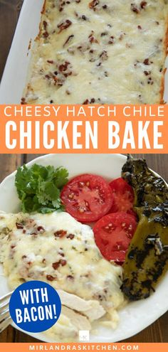 This delicious, tender chicken bake only takes 15 minutes to get into the oven! The chicken is savory, slathered in cheese, and has plenty of bacon! Oh, and did I mention some lovely hatch Chile??? Yep - good stuff! This is one of our favorite easy fall and winter meals. #easy #comfortfood #chickendinner Ground Turkey Meatballs, Crockpot Chicken Thighs, 15 Minute Dinners, Healthy Ground Turkey, Winter Food, Winter Meals, Baked Chicken Tenders, Turkey Sandwiches, Easy Chicken Recipes