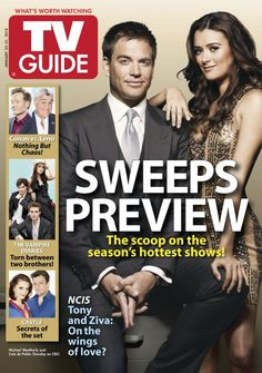 January 25, 2010. Michael Weatherly and Cote de Pablo of NCIS