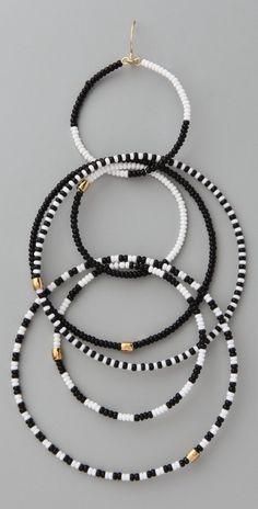 Noir Jewelry Beaded Multi Hoop Earrings | SHOPBOP