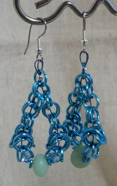 Aluminum chain maille earrings