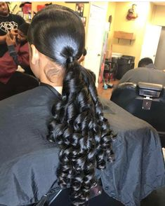 """Excellent """"black hairstyles with weave"""" detail is readily available on our website. Take a look and you will not be sorry you did. Sleek Ponytail, Ponytail Styles, Ponytail Hairstyles, Weave Hairstyles, Curly Hair Styles, Cool Hairstyles, Natural Hair Styles, Hair Ponytail, Black Hairstyles"""