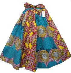 BLACK HISTORY MONTH Girls African Wax Skirt Ankara Print Vintage Kid Sizes 2T to 5T One Size Kente Print