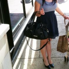 A must have pretty black bag from BCBGeneration Every fashionista knows how a big black handbag is a must! This BCBGeneration leather handbag is gorgeous! Has short and long straps for shoulder or crossbody. Lots of room to put your stuff in. BCBGeneration Bags Totes