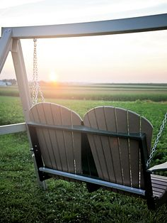 Let Us Help Make Your World Peaceful || Fanback Swing By Peaceful Valley  Furniture #outdoor #furniture #swing | Backyard Bliss | Pinterest | World,  ...