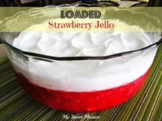 This jello recipe is super easy & really delicious because it's LOADED with strawberries, bananas, crushed pineapple & walnuts!  Get the recipe, nutritional facts & WW Points at: http://myrecipemagic.com/recipe/recipedetail/loaded-strawberry-jello