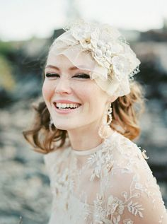 That headpiece! THE NORWEGIAN WEDDING BLOG : Scandinavian Style Workshop Kongsvinger by Siegrid Cain Photography