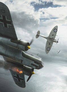 ArtStation - Battle of Britain Combat Archives - August 19th, Piotr Forkasiewicz