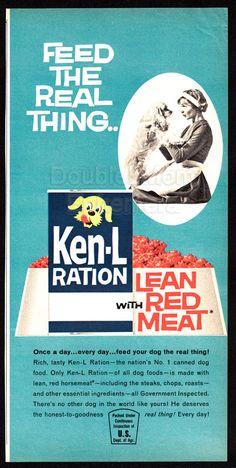 1962 Ken-L Ration Dog Food Print Ad // Cocker Spaniel Dog Advertisement Print // Vintage Dog Ads // Cocker Spaniel Art // Feminine Hygiene