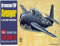 The Guillows 1/38 Grumman TBF Avenger is a balsa wood aircraft model kit from the range manufactured by Guillow.  The Grumman TBF initial production order for 286 planes was placed in the latter part of 1940 and, between 1942 and the end of the 1943, 2, 293 Avenger were built and delivered to the U.S. Navy. It became the Navy standard torpedo-bomber of World War 2 and first saw action on June 4, 1942, at the historic Battle of Midway.